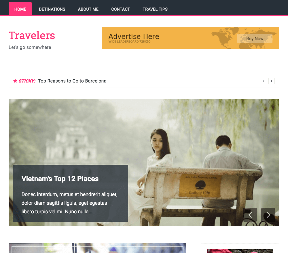Travelers Pro WordPress Theme