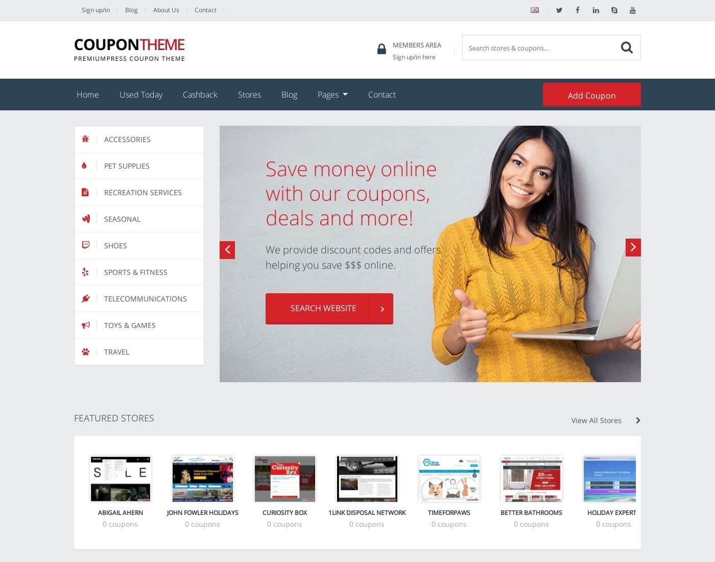 Coupon PremiumPress WordPress Theme