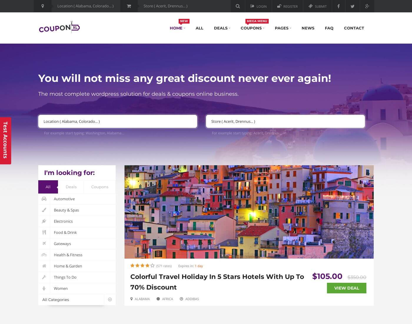 CouponXL WordPress Theme