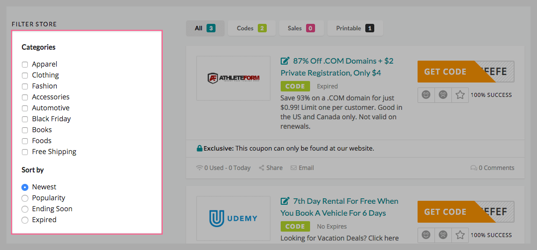 What's New in Coupon WP v1 2 6 – FameThemes