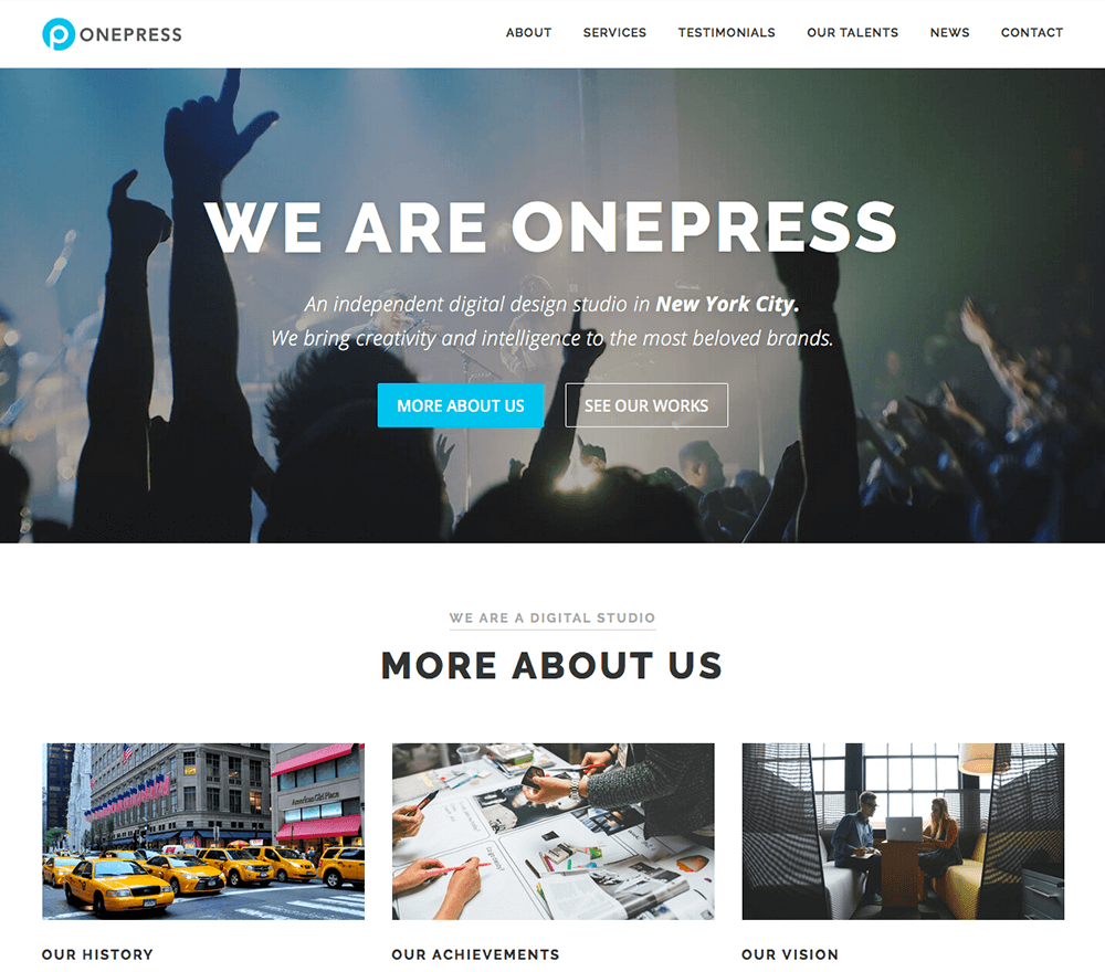 Free One Page WordPress Theme 2019 - OnePress
