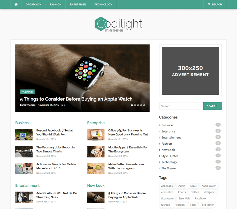 Codilight Lite WordPress Theme