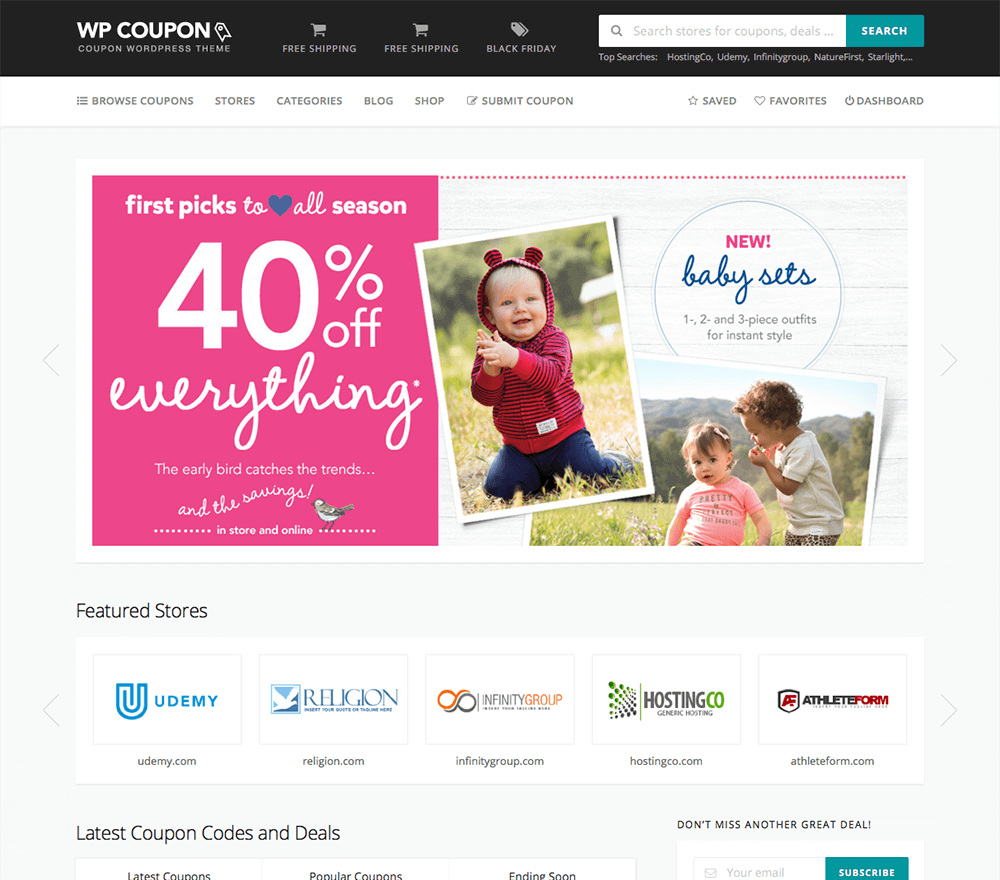 WordPress Coupon Theme 2018 - WP Coupons & Deals Theme – FameThemes
