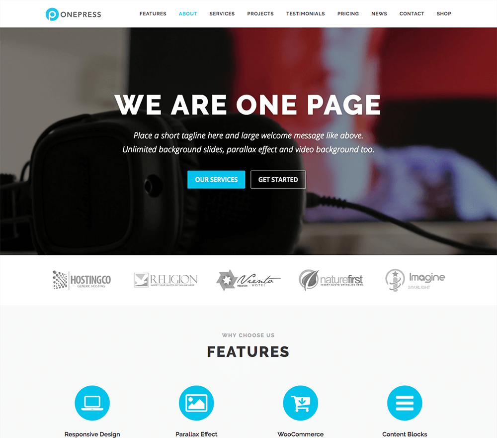 OnePress Plus WordPress Theme