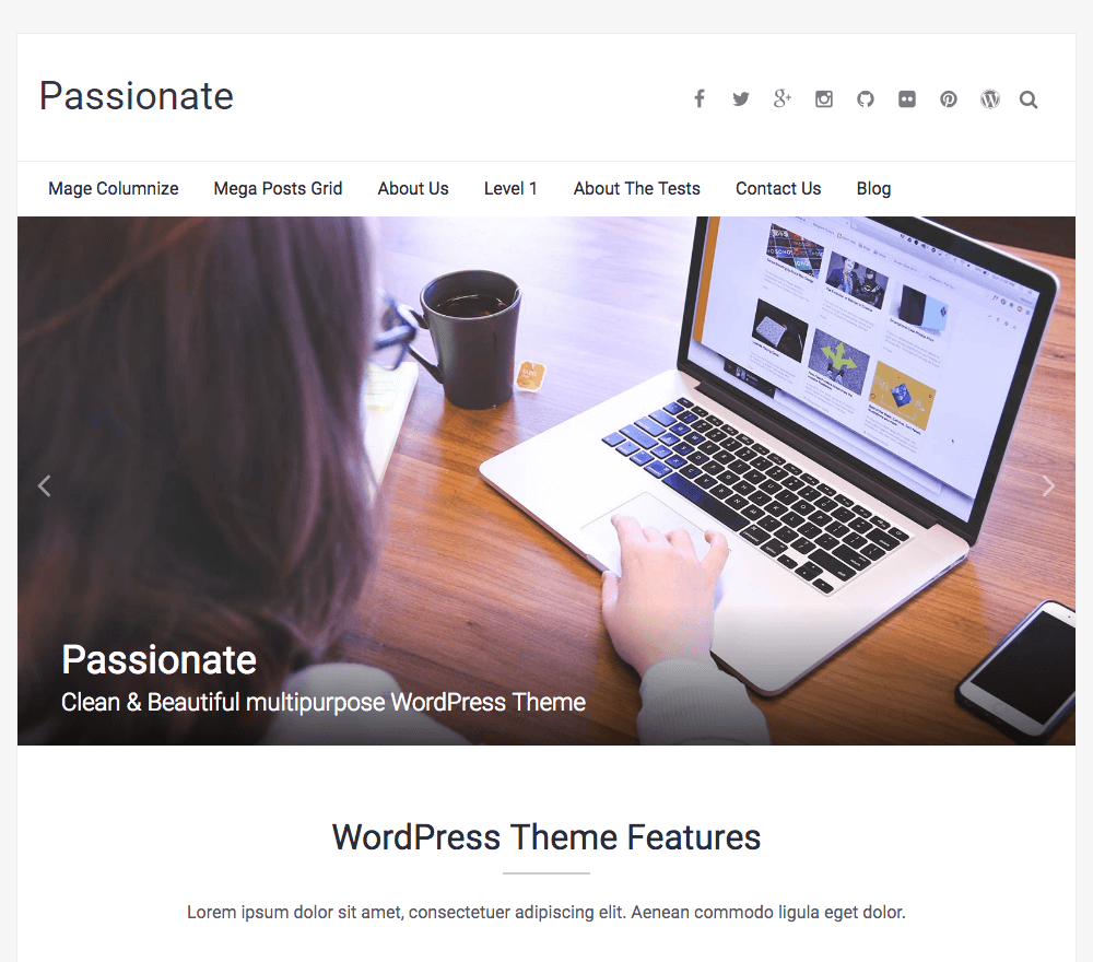 Passionate WordPress Theme