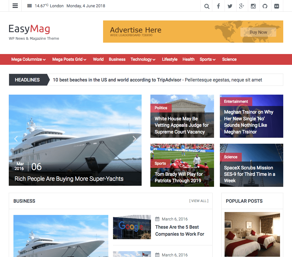 EasyMag Pro WordPress Theme