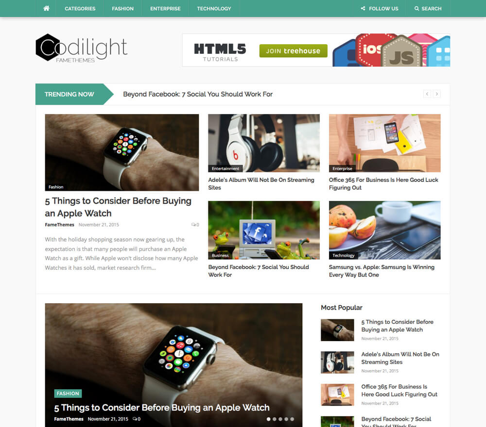 Codilight WordPress Theme