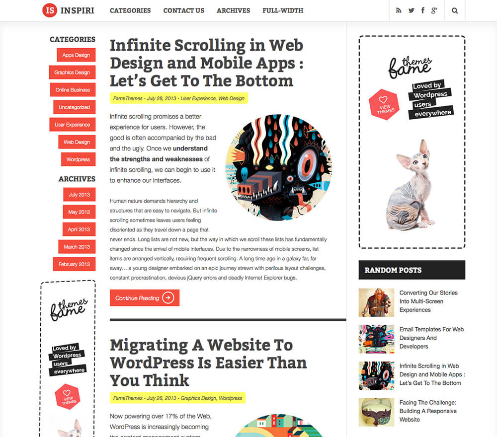 Inspirin WordPress Theme