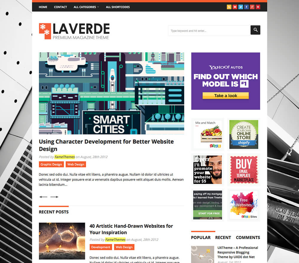 Laverde WordPress Theme
