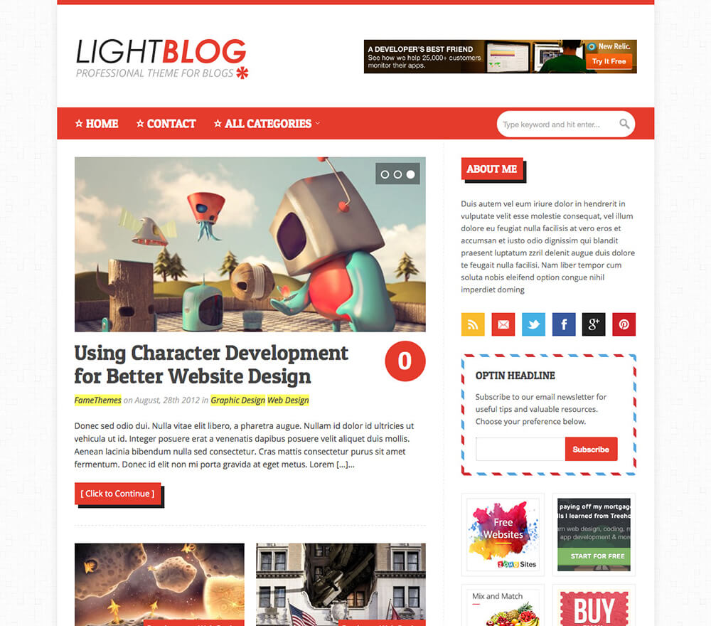 LightBlog WordPress Theme