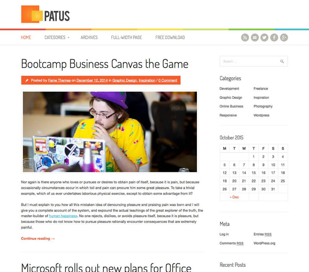Patus WordPress Theme