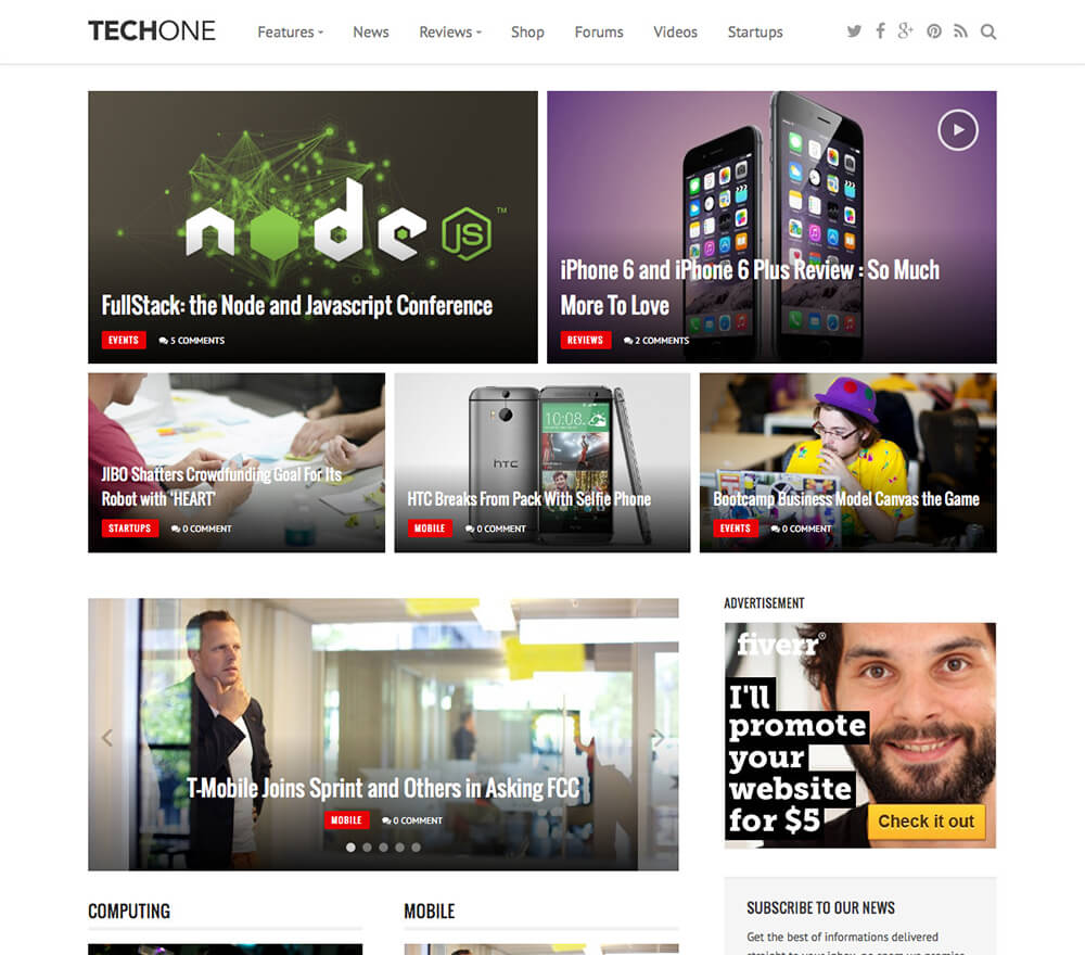 Techone WordPress Theme